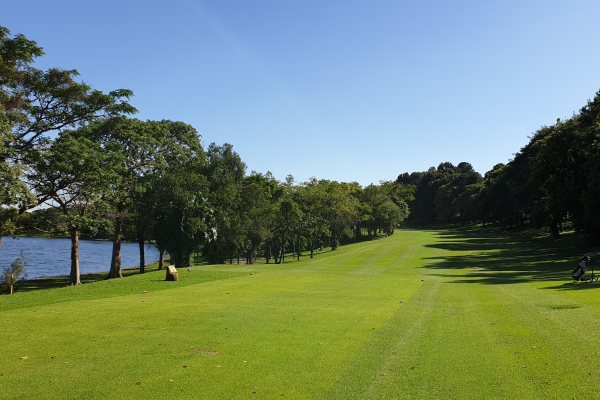 The final tee of the sao Paulo Clube de Campo golf course.
