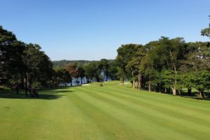 The fairway of hole 17 of the Sao Paulo Clube de Campo golf course.