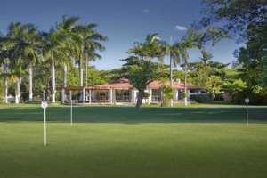 At the Guaruja GC the putting green is front of the clubhouse
