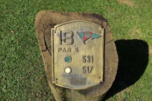 The signalization of the Sao Paulo Clube de Campo golf course.
