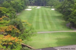 The first hole of the Sao Paulo golf club.