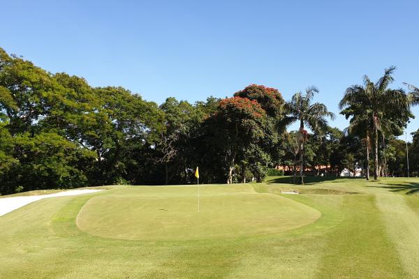 The last green of the Sao Paulo Clube de Campo golf course.
