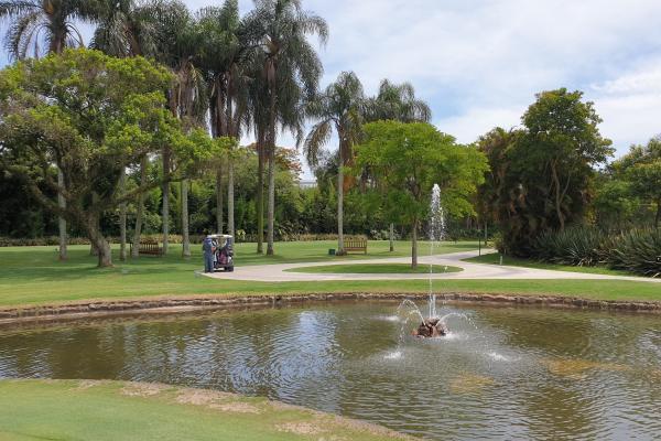The lake of the Sao Paulo golf club.