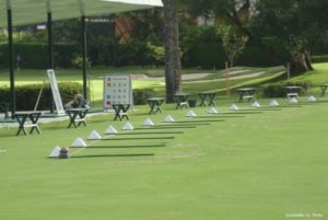 The drivingrange of the Sao Paulo golf club.