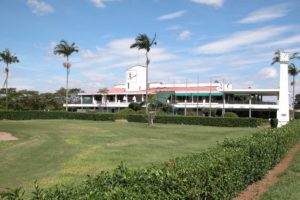 Clubhouse of the Aruja golf club.