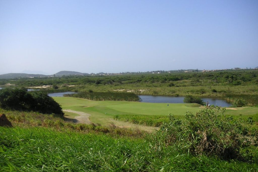 Links of the course of the Buzios golf club.
