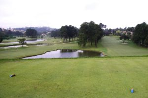 Lakes of the golf course of the Sao Fernando golf club in Cotia.