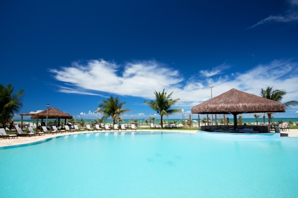 The Pool of the Dom Pedro Laguna Aquiraz Resort in Fortaleza.