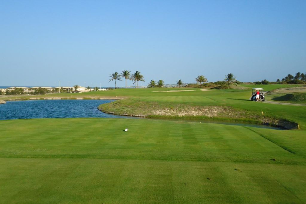 Lakes of the golf course of the Aquiraz Riviera Ocean and Dunes golf club in Fortaleza.