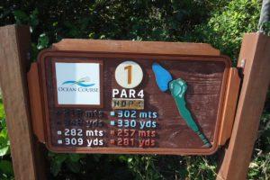 Signalization of the golf course of the Aquirai Riviera Ocean and Dunes golf club in Fortaleza.