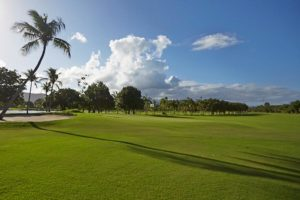 Fast game of the golf course of the Guaruja Island Golf Club.