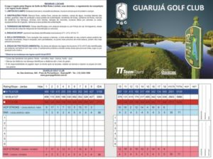 Scorecard of the golf course of the Guaruja Island Golf Club.