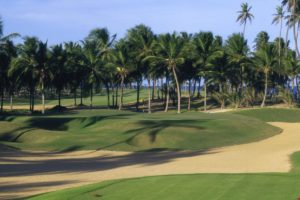 Bunker of the course of the Iberostar do Forte golf club.