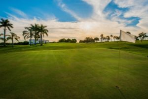 Sunset at the course of the Iguassu Falls Wich Ressort golf club.