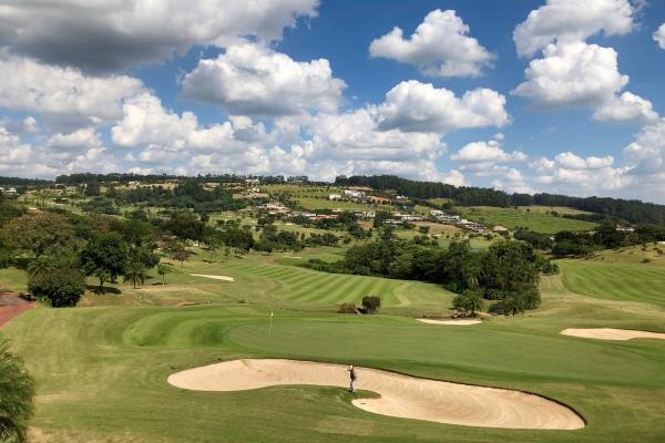 Golf course of the Fazenda da Grama Country Golf Club Resort in Itupeva.
