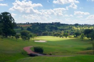 Fairway of the course of the Fazenda da Grama Country golf club in Itupeva.