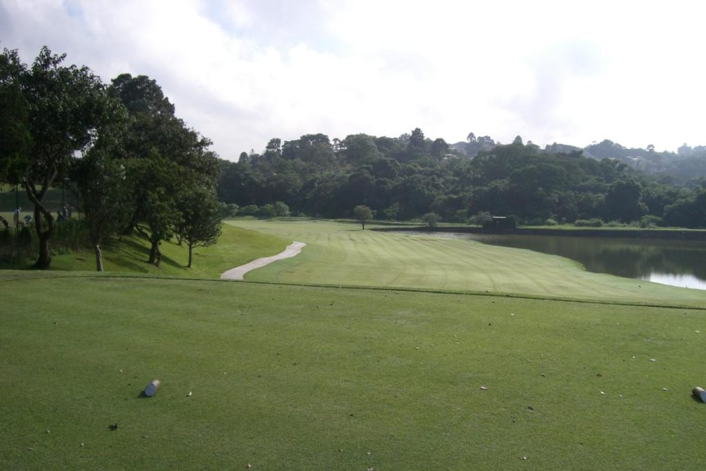 Dogleg of the course of the Sao Fernando golf club in Cotia.