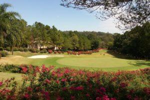 Gardenview of the Terras de Sao Jose golf club in Itu.