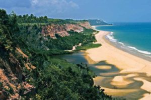 Beach-view from the golf course of the Terravista golf club in Trancoso.