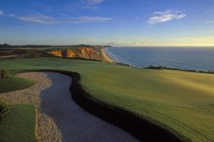 Oceanview of the golf course of the Terravista golf club in Trancoso.