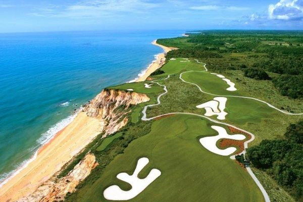Overview on the course of the Terravista golf club in Trancoso.