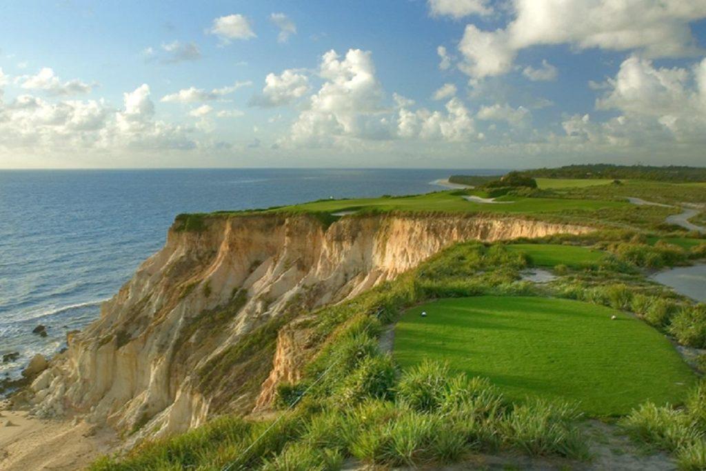 Signature hole of the course of the Terravista golf club in Trancoso.