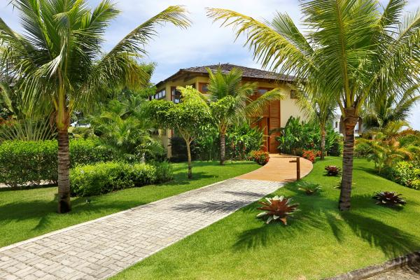 A villa in the garden of the Terravista Resort in Trancoso.