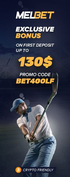 Receive an exclusive promotion on first deposit for Melbet golf bets with our code bet4golf.